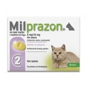 Milprazon Kleine Kat (4 Mg) - 2 Tabletten