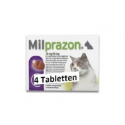 Milprazon Grote Kat (16 Mg) - 4 Tabletten