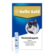 Bolfo Gold 80 | Cat 4-8 kg | 2 pipettes