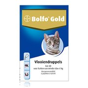 Bolfo Gold 40 | Cat up to 4 kg 4 pipettes