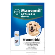 Mansonil All Worm Hond Flavour | 2 tabletten