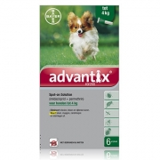 Advantix 40/200 | Dog up to 4 kg | 6 pipettes