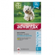 Advantix 100/500 | Hund 4-10 kg | 6 pipetten EU