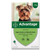 Advantage 40 | Dog up to 4kg | 4 pipettes