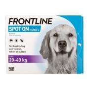 Frontline Spot-on Hond L | 20-40 kg | 6 pipetten